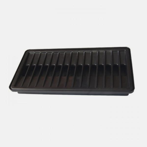 Каплесборник пластиковый, черный 170х300 мм